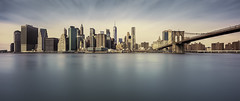 A Canadian in the U.S.eh? (Todd Murrison (Whitby61)) Tags: architecture america city family feb2017 getaway landmarks manhattan newyork unitedstates urban busy tourists dumbopark brooklynbridge canadian cityscape canontse24mmf35 toddmurrison unoriginal useh longexposure 3shotpanorama outandabout 10stopfilter forgetgoldenhourwhentravellingwithfamily he