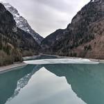 Reflections on turquoise lake thumbnail