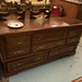 Large oak stained chest of drawers €230