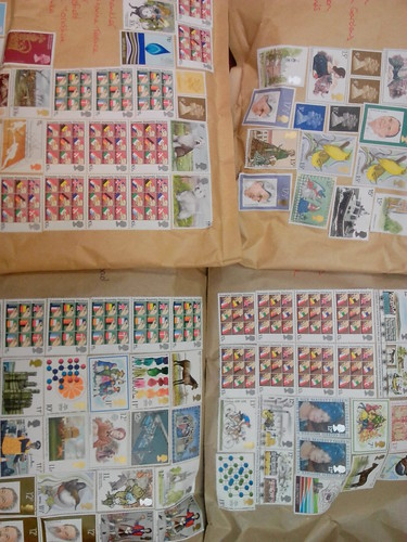 Four parcels lots & lots of stamps!