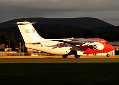 OO-TAU TNT (Gerry Hill) Tags: bridge sunset airplane scotland airport nikon edinburgh sundown aircraft aeroplane cargo airline british boathouse bae freight aerospace 146 ingliston d90 turnhouse egph d80 bae146200qt 200qt