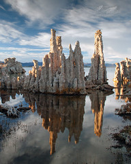 Mono Mirror (Jason Branz) Tags: lake reflection water clouds monolake tufa
