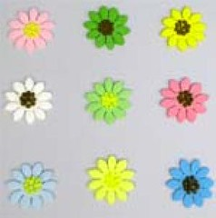 Mix Daisies assorted 3cm (sweetinspirationsaustralia) Tags: cupcaketoppers