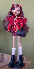 Dead riding Wolf (Just a Nobody) Tags: red monster high scary wolf doll tales riding hood after ever fashiondoll mattel clawdeen