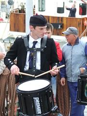 Drummer (DSCF9923) (AngusInShetland) Tags: scotland gloria bagpipes tallships shetland lerwick tallshipsrace sailtraining lerwickroyalbritishlegionpipeband