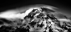 Solace of Fierce Landscapes (TroyMasonPhotography) Tags: longexposure sunset blackandwhite snow blur ice clouds forest landscape evening nationalpark solitude dusk hike glacier trail mountrainier rainier backpack wife tamron viewpoint mtrainier muir lenticular tahoma oldgrowth rampart nightswimming d600 longmire rampartridge neutraldensity trailoftheshadows troymason troymasonphotographycom troymasonphotography longmireoverlook myblurclouds 2014mountrainierwilderness50th