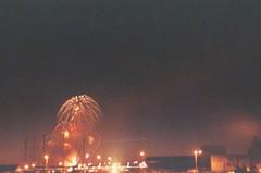 Fireworks On the Pier (Anne Abscission) Tags: longexposure summer water america marina docks 35mm 50mm pier washington waterfront fireworks lofi rangefinder celebration july4th 4thofjuly expired independenceday 35 festivities argusc3 100asa everett argus cintar c3 agfavista matchmatic