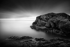 Awakenings (Ger208k) Tags: longexposure ireland sky blackandwhite dublin seascape clouds rocks dynamic horizon minimalism bullockharbour bigstopper gerardmcgrath