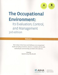 The occupational environment: its evaluation, control, and management: volume 1 (Biblioteca da Unifei Itabira) Tags: capa livro