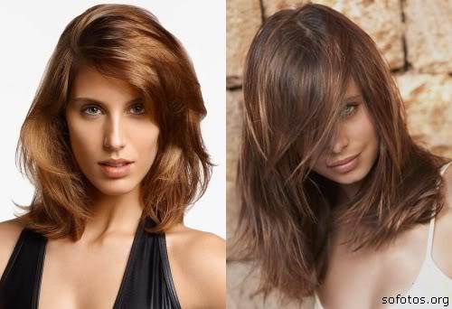 corte de cabelo médios feminino