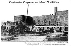 School 23  construction of addition 1930  albany ny (albany group archive) Tags: road school ny public grade albany development whitehall rd addition 1930 school23