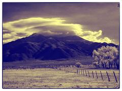 Mountain & Cloud (mikerosebery) Tags: newmexico taos nm olympusc2020z hoyar72filter