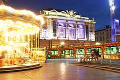 Montpellier (Jose A. Portero) Tags: france night montpellier tiovivo