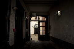 The Private Entrance (Gilderic Photography) Tags: door city urban house cinema france building window mystery architecture canon dark private eos mirror hall europe raw secret entrance sombre porte lille cinematic maison ville couloir fenetre prive portail 500d gilderic