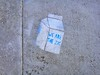We Are the 2% Milk Carton Political Sidewalk Stencil (Lynn Friedman) Tags: sanfrancisco ca street 2 usa 1 stencil grafitti tag politics humor fillmore milkcarton politicalhumor lowerhaight 94117 lynnfriedman wearethe99 wearethe2