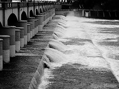 The Happy Flood.. (Sugan Raj) Tags: india water monochrome river landscape photography dam grand shutters sugan kaveri cauvery kallanai anaicut clickster vennaaru vennaru