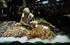 La Boqueria Market (Sami T (currently traveling)) Tags: barcelona spain market seafood fujifilm boqueria rambla 18mm xpro1