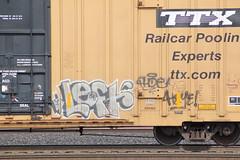 09012013 142 (CONSTRUCTIVE DESTRUCTION) Tags: train graffiti mr tag boxcar graff piece left freight ase moniker