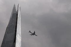 IMG_3239 The Shard (Geoff D E Clarke (gdeclarke)) Tags: building london tower plane view shard canoneos1100d