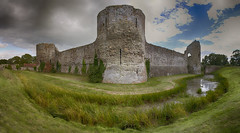 Pevensey Castle (Phil-Clements) Tags: castle sussex roman fort norman eastbourne walls moat pevensey anderida
