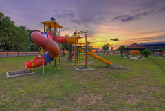 Playground. (Azihan Yusoff) Tags: light sunset sky art nature beautiful playground dawn kid amazing ray glow burning malaysia hdr lanscape shah alam azihanyusoff