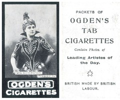 Billie Barlow: (painting in light) Tags: vintage photo fry cigarette ad smoking advertisement advert sell selling tobacco elliott barlow billie patience soprano cigarettecard ogdens billiebarlow