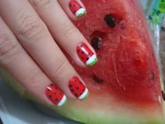 Unhas de melancia (Carolina Sacchetto) Tags: frutas melancia clubedoesmalte