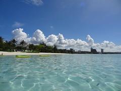 Tumon Beach, Guam (Phreddie) Tags: ocean trip sea vacation holiday beach happy hotel play hyatt float guam regency tumon isaland 1310guam