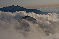 A peak wrapped in clouds (Yoshia-Y) Tags: clouds tateyama mtyakushi