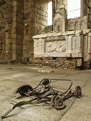 At the altar... (deanspic) Tags: france abandoned church monument memorial ruins decay ww2 ghosttown worldwartwo g12 oradoursurglane