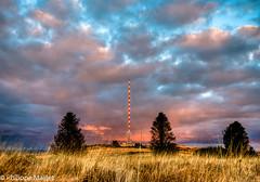 On top of the world at dusk (PhilND8) Tags: sky france landscape twilight nikon brittany dusk bretagne nikkor paysage hdr antenna d800 breiz montsdarree 1635mmf4