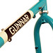 Downtube detail of Turquoise with \