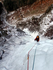 Stemalot on Piccadilly Circus (Dru!) Tags: canada cold ice hope climb frozen waterfall bc circus britishcolumbia picadilly piccadilly climbing highway1 climber iceclimbing chilliwack northcascades cascademountains iceclimber stemalot iceclimb herrlingisland