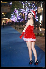 nEO_IMG__MG_0144 (c0466art) Tags: christmas school light red portrait white girl beautiful female night canon photo asia university pretty skin gorgeous skirt short attractive 5d lamps cloth charming pure c0466art