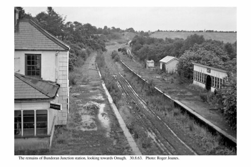 Bundoran Junction station remains. 30.8.63