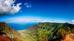 Hawaii Adventure Kauai Napai Coast Fisheye (Dr Blind) Tags: sea cloud landscape hawaii air kauai land cloudporn adventureinhawaii
