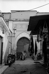 Scan-131230-0040.jpg (mathendrix) Tags: africa street door analog blackwhite marrakech roll2 nikonf3 marroco fujineopan400 homedeveloping 2013 nikoncoolscan5000ed