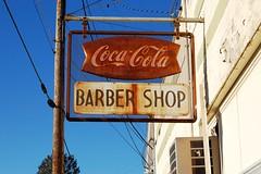 Virginia, Wytheville, Coca-Cola / Barber Shop (20,237) (EC Leatherberry) Tags: sign virginia barbershop soda cocacola softdrink wythecounty