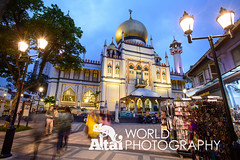 Sultan Mosque (Altai World Photography) Tags: blur night lights singapore asia dusk south muslim islam mosque east glam quarter sultan southeast kampong sgp centralsingapore