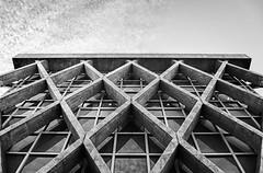 La Defense - Diamond-shaped (Guillaume Bessonat) Tags: paris france building architecture facade noiretblanc pentax ladefense diamond lignes immeuble abstrakt lightroom pentaxda pentaxart smcpda1855mmf3556alwr smcda1855wr pentaxk30