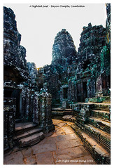 A lighted Past - Bayon Temple (heng.steven) Tags: landscape nikon cambodia hdr d800 14mm bayontemple 1424mmf28g nikon1424mmf28g