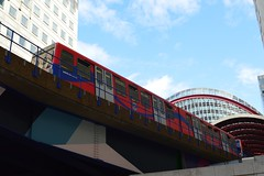 Docklands Light Railway (PD3.) Tags: uk light england london station train sightseeing railway east seeing wharf end docklands canary sight