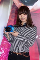RICHO -CP+ 2014 Show Girl (Yokohama, Kanagawa, Japan) (t-mizo) Tags: camera girls portrait woman girl japan canon person women pentax sigma exhibition event showgirl adobe  yokohama cp companion kanagawa minatomirai ricoh  lr lightroom    sigma50mm     pacificoyokohama  campaigngirl   lr4  sigma50  sigma5014 sigma50mmf14 sigma50mmf14exdghsm sigma50exdg sigma50mmf14exdg sigma50f14 eos60d sigma50mmhsm sigma50mmf14dgex lightroom4 pentaxricohimaging  pentaxricoh  cp2014 {vision}:{people}=099 {vision}:{face}=099 {vision}:{outdoor}=0752 {vision}:{text}=0551