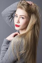 Ashley (austinspace) Tags: portrait woman washington sweater model spokane dress blond blonde alienbees