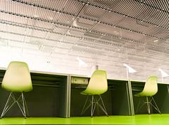 cottbus library (POSITiv) Tags: pink green architecture library bibliothek vert swirl grn cottbus farben wendeltreppe positiv