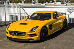 Black Series at Symbolic (Nyjel Alexander) Tags: california black car yellow mercedes san diego super motors series coupe symbolic sls amg