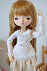 Sweater for Leeke Artbody (Milk and Bunny) Tags: world art ball sweater doll body handmade sewing clothes homemade bjd ariana msd jointed leeke leekeworld artbody