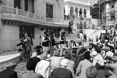 Listening to a musical troupe perfoming in front of Akal Takht (Ashish A) Tags: india building canon buildings religious temple asia religion crowd staircase sikh devotee devotees amritsar digitalslr sikhism goldentemple musicalinstruments whitebuilding canoncamera religioussymbol musicalperformance peoplesitting sittingpeople akaltakht goldentempleinamritsar canon650d musicaltroupe religioussongs canont4i peoplewearingturbans peopleinsidegoldentemple peoplelisteningtosongs