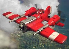 Crimson Storm (JonHall18) Tags: plane fighter lego aircraft fantasy ww2 moc skyfi dieselpunk