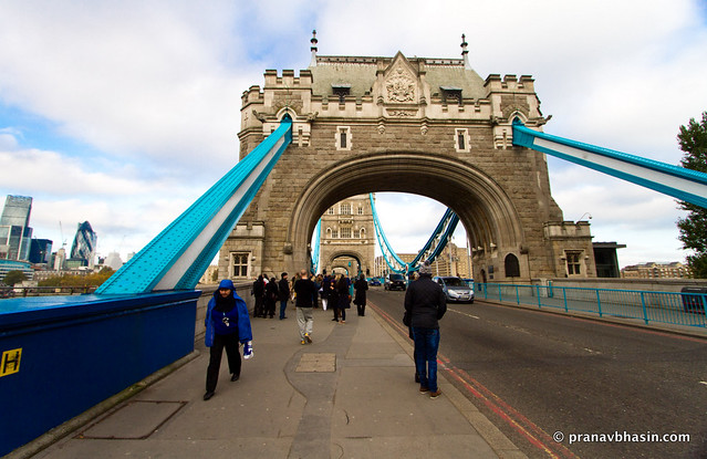 Pleasant Walk On Tower Bridge, London